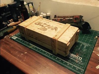 DIY. Wooden gift box