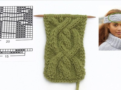 How to knit the head band in DROPS Extra 0-1320
