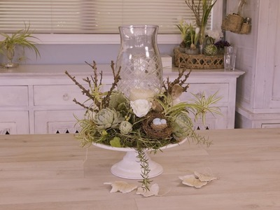 How to Make a French-inspired Christmas Table Flower Arrangement