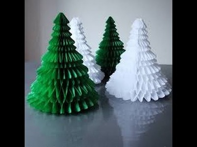 How to Make a Paper Christmas Tree,tutorial step by step