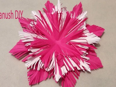HOW TO MAKE A SNOWFLAKE OUT OF PAPER