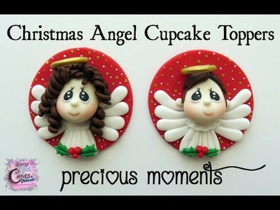 How To Make Christmas Angel Cupcake Toppers - Precious Moments Inspired