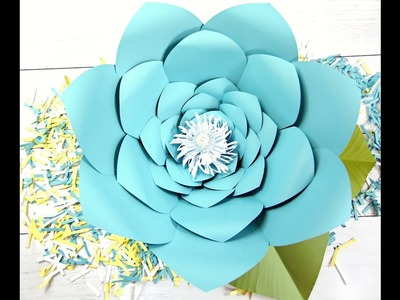 How to make giant backdrop paper flowers- Jasmine Style