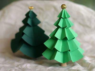 How To Make Origami Christmas Tree - Easy