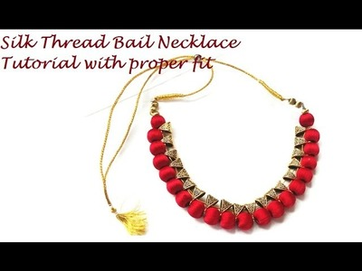 How to make silk thread bail necklace in proper shape