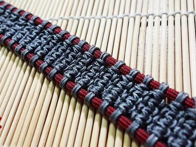 How to Make the Solomon's Ladder Paracord Bracelet Tutorial