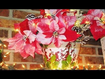 How to Terra Cotta Planter for Christmas Centerpiece Decoupage