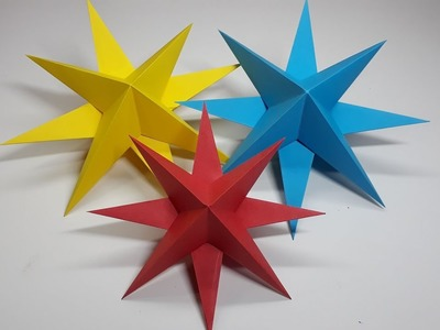 Origami Tutorial - How to fold an Easy Origami 3D Paper Stars