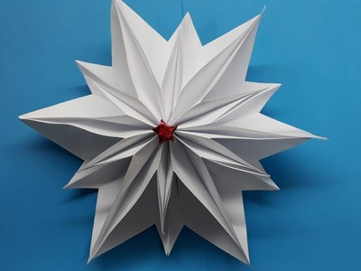 Origami Tutorial -  How to fold an Easy Origami Christmas Star