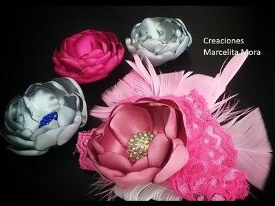 Rosa Flor en tela. How make to flower Rouse