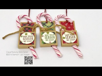 """""""26"""" Sleeps Till Christmas - Candy Cane Holder with Stampin' Up! Warm & Cheer Suite"""