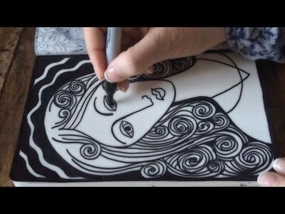 ASMR Madonna Doodle (ASMR, Drawing, Sounds, Doodle, Tangle, Tingle, Zentangle, no Speaking)