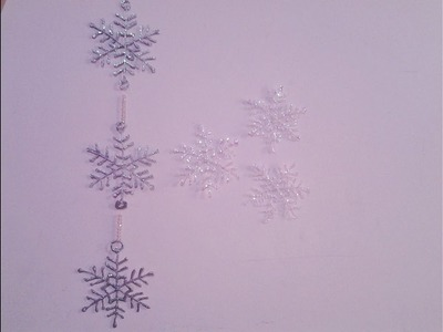 Christmas Decoration ideas - Hot Glue Snowflakes