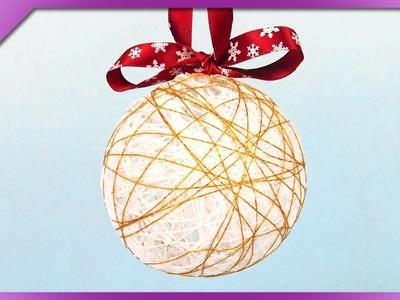 DIY Yarn Christmas ball (ENG Subtitles) - Speed up #286