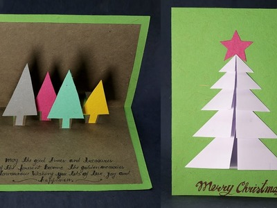 Handmade Christmas Cards - 3D Pop Up Christmas Card