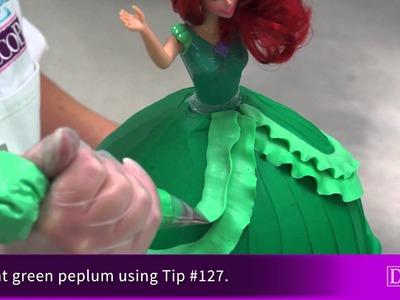 How-To Decorate Ariel Disney Princess Doll Signature Cake DecoSet