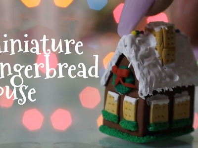 Miniature Gingerbread House : Polymer Clay Tutorial