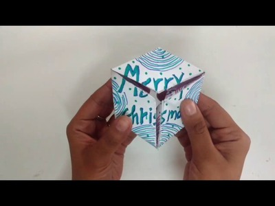 3D Endless Flexagon Card Tutorial For Christmas | How To | CraftLas