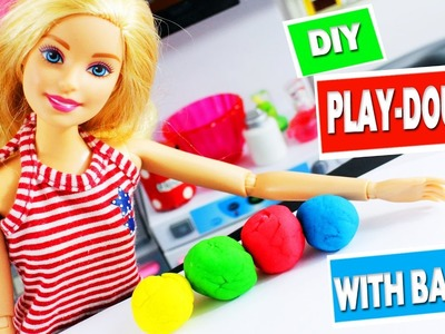 CRAFT WITH BARBIE: How to make Homemade Play-dough
