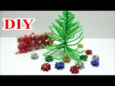 DIY Crafts Ideas: Best out of Waste Pipe Cleaner and Drinking Straw Christmas Tree