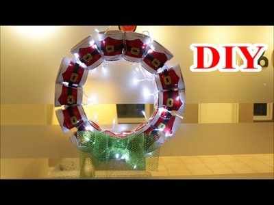 DIY Crafts Ideas: DIY Christmas Lantern Wreath out of Recycling Plastic Cups   Best out of Waste