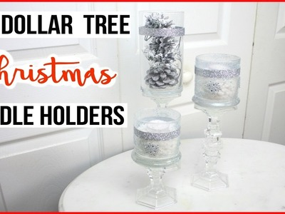 DIY Dollar Tree Christmas Candle Holders!