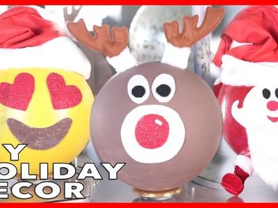 DIY Holiday Room Decor ! Easy DIY Holiday Decorations + Giant Ornaments!