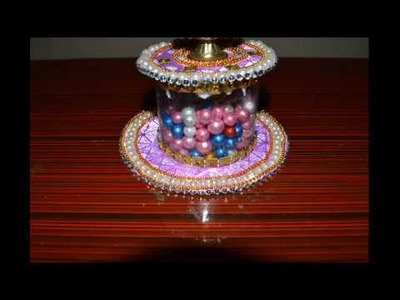 DIY. how to make candle holder. diya stand.best out of wastage.recycled craft