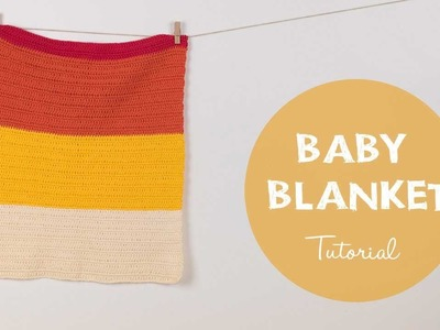 How to Crochet a Baby Blanket Easy Beginner Tutorial | Croby Patterns