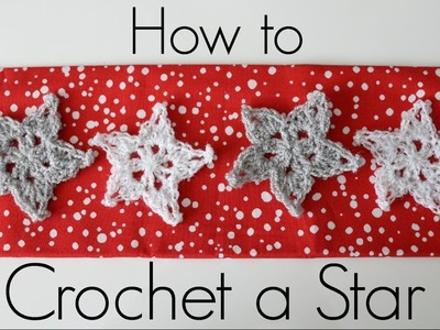 How to Crochet a Star and Stiffen it Tutorial - Easy Advanced Beginner