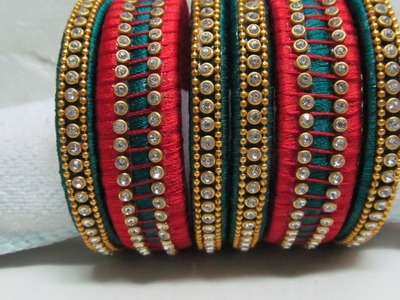 How to make a Designer Silk Thread Bangles Set at Home
