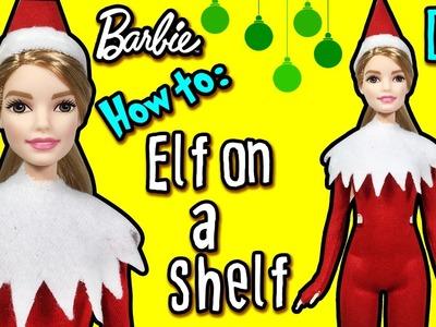 How to Make Barbie Elf On a Shelf Costume - DIY Christmas Holiday Crafts