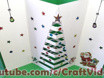 How to make Christmas Cards for Kids 2016, Pop Up christmas greeting cards for kids at home