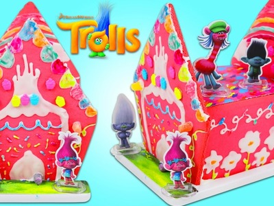 How to Make TROLLS Ginger Bread House Fun & Easy Crafting Cooking Play Kit!