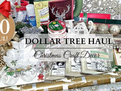 HUGE $50 CHRISTMAS DOLLAR TREE HAUL ~ Crafts & DIY Supplies!