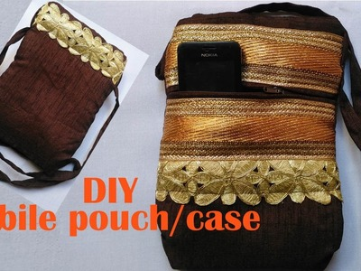 Mobile phone pouch.case DIY | how to make a mobile phone pouch easy tutorial