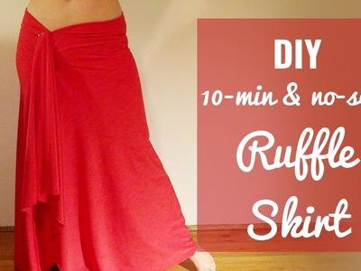 [No Sew] 10 min Ruffle Skirt DIY - SUPER EASY!