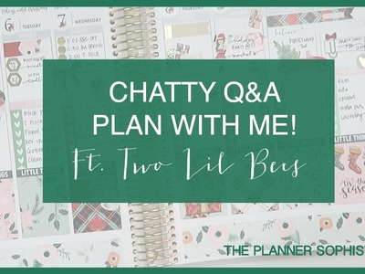 Chatty Christmas Q&A Plan with me! \\ Vertical \\ Ft Two Lil Bees