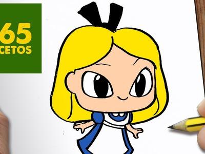 COMO DIBUJAR ALICIA KAWAII PASO A PASO - Dibujos kawaii faciles - How to draw a Alicia