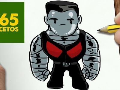 COMO DIBUJAR COLOSSUS DE DEADPOOL KAWAII PASO A PASO - Dibujos faciles - How to draw COLOSSUS