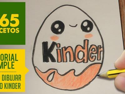 COMO DIBUJAR HUEVO KINDER KAWAII PASO A PASO - Dibujos kawaii faciles - How to draw a Kinder