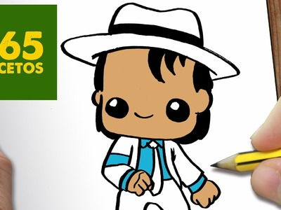 COMO DIBUJAR MICHAEL JACKSON KAWAII PASO A PASO - Dibujos kawaii faciles - draw a Michael Jackson