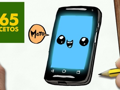 COMO DIBUJAR MOTO G KAWAII PASO A PASO - Dibujos kawaii faciles - How to draw a Moto G