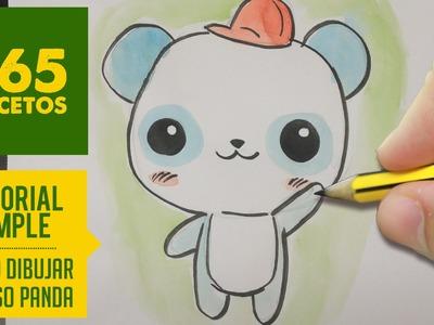 COMO DIBUJAR UN PANDA KAWAII PASO A PASO - Dibujos kawaii faciles - How to draw a Panda