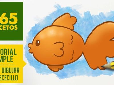 COMO DIBUJAR UN PEZ KAWAII PASO A PASO - Dibujos kawaii faciles - How to draw a fish