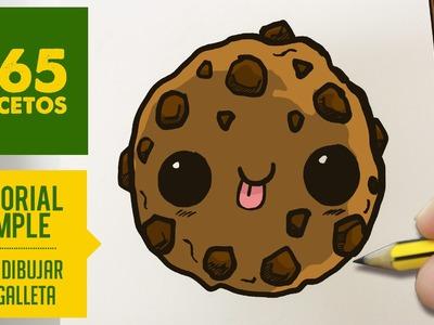 COMO DIBUJAR UNA GALLETA KAWAII PASO A PASO - Dibujos kawaii faciles - How to draw a cookie