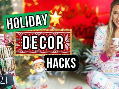 HOLIDAY ROOM DECOR HACKS & DIYS
