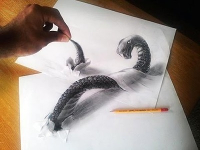 How to draw 3d art on paper, a 3d painting model