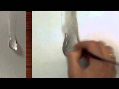 How to Draw a Water Drop Step by Step (3D) #waterpaint