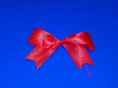 How to make a bowknot (a bow) for 3D origami models